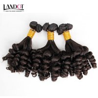 Wholesale Mongolian Aunty Funmi - Mongolian Curly Virgin Hair Aunty Funmi Human Hair Weave Bundles Bouncy Spiral Romance Loose Deep Curls Mongolian Remy Human Hair Extensions