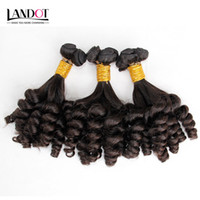 Wholesale human hair weft deep curl for sale - Group buy Mongolian Curly Virgin Hair Aunty Funmi Human Hair Weave Bundles Bouncy Spiral Romance Loose Deep Curls Mongolian Remy Human Hair Extensions