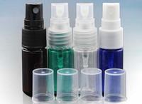 Wholesale 15ml Plastic Bottles Blue - PET Pump Sprayer Bottle 10ml 15ml 20ml 30ml 50ml Lotion Cosmetic Sprayer Bottle clear, green, blue, amber color liquid spray bottle
