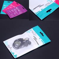 handys pakete großhandel-16CMx9cm Reißverschluss Plastikkleinpaket Verpackungsbeutelbeutel Kasten für Kopfhörer Ladegeräte Datenkabel Handyzusätze Heißer Verkauf