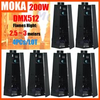 Wholesale Dmx Fire Machine - Moka MK-E02 6pcs lot 200W Six Corner Fire Flame Machine DMX for Party Club Pub Stage Equipment