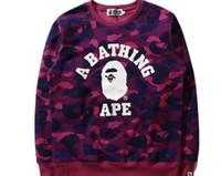 Wholesale High Collar Sweatshirt Women - Men Women Bronzing Ape Head Embroidery Sweater Autumn Winter Round Neck Sweater Hoodie High Quality palace Sweatshirt