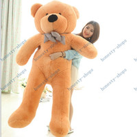 "Wholesale Bear Feet 12 - 2015 stuffed bear teddy bear Plush Toy gift 6.3 FEET TEDDY BEAR STUFFED LIGHT BROWN GIANT JUMBO 72"" size:160cm"