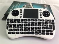 teclado de proyección de iphone al por mayor-Rii Mini i8 i8 + Keyboard X50 Touch Fly Air Mouse batería recargable Cable USB Portátil 2.4G Keyboard Mouse Combo Touchpad PC
