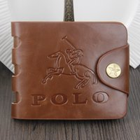 Wholesale Crazy Horse Purses - 2016 Hot-selling Crazy Horse Skin Mens Wallets Fashion Design Brand Quality Credit Card Holder Purse Wallet For Men Free Shipping