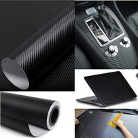 Wholesale Vehicle Wrap Free Shipping - Cool Fashon DIY Carbon Fiber Wrap Roll Sticker For Car Auto Vehicle Detailing 127CMx30CM car sticker vw car accessories free shipping TY436