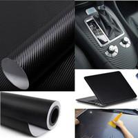 Wholesale Cool Carbon Wrap - Cool Fashon DIY Carbon Fiber Wrap Roll Sticker For Car Auto Vehicle Detailing 127CMx30CM car sticker vw car accessories free shipping TY436