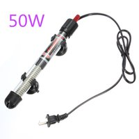 Vendita calda 50W Acquari Accessori Durable sommergibile Heater Riscaldamento Rod Aquarium Glass Fish Tank Temperatura regolabile