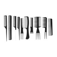 Wholesale Brush Hairdresser - Wholesale- (10 Pieces Set) Professional Barber Combs Hairdressing Haircut Barber Shop Barber's Tools Comb For Hairdressers