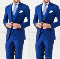 Wholesale Cheap Light Ropes - Cheap High Quality Men Suit Bestmen Groom Tuxedos Custom Made Formal Suits Business Men Wear(Jacket+Pants+Tie+Vest) 2016 New Arrival