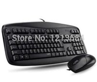 Wholesale Ergonomic Mouse Rapoo - Wholesale-Original Rapoo N3810 Ergonomic Multimedia Waterproof E-Sports Gaming Computer PC USB Keyboard + 1000DPI USB Mouse
