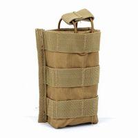 Wholesale Plain Magazine - 600D Nylon Molle Tactical Magazine Pouch Hunting Portable Pistol Holster Outdoor Utility EDC Flashlight Pack Bag