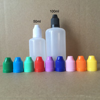 Wholesale fast thin - Fast Shipping 50ml 100ml PE E liquid Empty Bottle Plastic Soft Dropper Bottles with Childproof Caps Long Thin Needle Tips E Cig Bottle