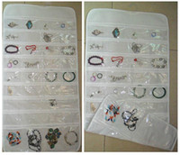 Wholesale Stock A5 - 72 Unit Pocket Double Sided Hanging Jewelry Organizer Storage Bag Case Holder organizador#54746 A5