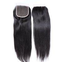 pièces de fermeture à cheveux pas chères achat en gros de-Cheveux vierges malaisiens de fermeture de lacet tisse la fermeture droite fermetures du dessus de boutures pièce 8