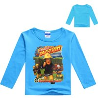 Wholesale Nova Kid Long Sleeve Boy - 2017 New Spring Baby Boys Clothing Fireman Sam Shirt Boys Long Sleeve Tops Kids T-shirts Cartoon Casual Fashion Tees Nova NO7159