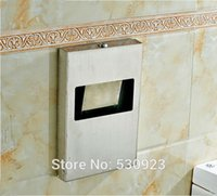 Wholesale Toliet Paper Holder Cover - Newly Stainless Steel Toilet Seat Cover Paper Box With Lock Toliet Paper Holder Tissue Rack Wall Mounted