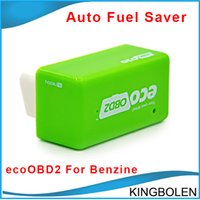 Wholesale vw 15 - Wholesale EcoOBD2 Economy Chip Tuning Box OBD Car Fuel Saver for Benzine Gasoline Cars Fuel Saving 15% DHL Free Shipping