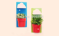 Wholesale flowerpot big resale online - 2 pieces Rainy Pot Wall hung Flowerpot Wall hung Cloud Flowerpot Big Small