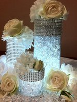 "Wholesale Diamond Wrap Roll - Free Shipping 4.5"" x1Yards (24rows) Silver Color Diamond Mesh Wrap Roll Rhinestone Crystal Ribbon Trim Wedding Party Decoration"