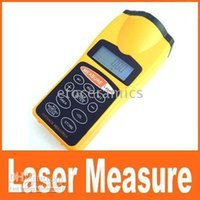 Wholesale Laser Pointer Measures Distance - Wholesale-EMS free+Ultrasonic Distance Measure Measurer with Laser Pointer New LCD ultrasonic Pointer 1.5-60 feet CP-3007