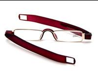 lentes mini lectores al por mayor-Venta al por mayor de bolsillo Portative plegable Mini computadora TV Reading Glasses Readers Metal Frame