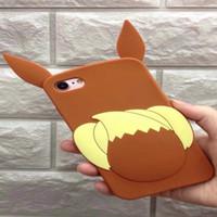 caso do iphone do silicone da raposa venda por atacado-3d fox bonito dos desenhos animados suave silicone case para iphone x 8 7 plus 6 6 S 6 P 7 + 6 + SE 5 5 S de Borracha Encantador Skins Capa