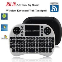 Wholesale Google Android Touchpad Tablet Pc - Fly Air Mouse Rii Mini I8 2.4g Wireless Keyboard with Multi-media Remote Control Touchpad Handheld for Google Android Smart Tv Box Tablet Pc