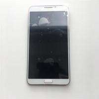 nota lcd siyah toptan satış-5.7 inç Süper LCD Ekran Dokunmatik Ekran Digitizer + Çerçeve Samsung Galaxy Not 3 N9005 N9000 Ayarlı Parlaklık Beyaz Siyah DHL lojistik