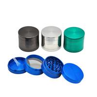 Wholesale grinder spices - 2 Size 4 Parts Dia.50mm 55MM Zinc Alloy Metal Herb Grinder Spice Crusher hand muller Grinder