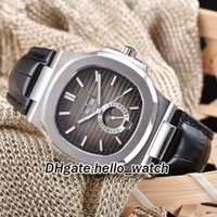 Wholesale perpetual moon - 2018 Cheap New Brand Nautilus 40.5mm Complicated Brown Textured Dial Calendar Moon Phase Automatic Mens Watch Leather Strap Original Buckle