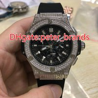 Wholesale Auto Battery Suppliers - top supplier AAA luxury brand watches black rubbber belts full diamonds case watch quartz chronograph sports watch man's dress wristwatches