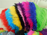 Wholesale White Ostrich Plumes - wholesale 100pcs lot 12-14inch Ostrich Feather Plume Royal bule,Turquoise,Hot Pink,Yellow,Purple,White For wedding centerpiece