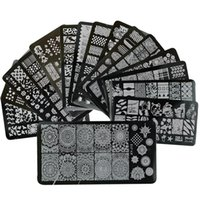 Wholesale Laced Nail Stamp Designs - Wholesale- 1 x New Designs Lace Mixed Stamping Nail Art Image Plates Stainless Steel Template Polish Manicure Stencil Tools XYJ01-16