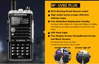 Vente de radios à deux voies Avis-Gros-2015 VENTE CHAUDE récente version 8W 4800mAh Baofeng BF-UVB2 plus Talkie Walkie Dual Band Portable Two-Way Radio UVB2 plus