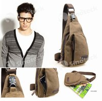 Wholesale Cross Body Shoulder Bag Wholesale - Men Chest Canvas Bags Vintage Man Messenger Bags For Waist Chest Casual Outdoor Hiking Sport Casual Male Retro Shoulder Bag Free DHL