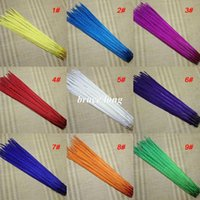 Wholesale Pheasant Feather Rooster - free shipping 100pcs dyed pheasant tail feathers wedding party stage rooster feathers hat mask decor 20-22inch 50-55cm