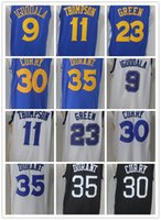 17/18 Nuovi Stati Uniti Golden State # 35 Kevin Durant 30 Stephen Curry 23 Draymond Green 11 Klay Thompson Home Jersey Warriors cuciture Maglie