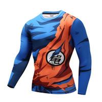 camiseta preta apertada venda por atacado-Naruto Dragon Ball Z Super Saiyan  T-shirts 88079808369
