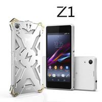 xperia z1 telefonu toptan satış-Sony Xperia Z1 Z2 Z3 Z4 Orijinal Tasarım Zırh Ağır Toz Metal Alüminyum THOR IRONMAN telefon kılıfı koruyun