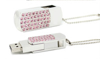 Metal rosa cristal diamante girar USB stick 2 GB 4 GB 8 GB 16 GB 32 GB 64 GB 128 GB 256 GB USB 2.0 Flash Drive Pen USB pendrives