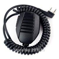 Wholesale Mic Baofeng Uv5r - Wholesale-NEW KMC-24 Handheld Speaker Microphone Mic for BAOFENG UV5R UV5RA UV-82 UV-82L UV-8 UV-8D UV-89 666S 777S 888S