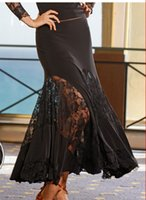 Wholesale Black Latin Dance Skirts - 2015 New Modern Dance Skirt Tango Dance Dresses Ballroom Competition Latin Dance Dress Ballroom Dancing Skirts Practice DQ5021