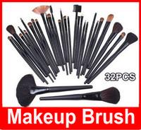 ingrosso spazzole professionale di trucco 32 set-M 32 PCS Cosmetic Fac-up Brush Kit Pennelli professionali in lana per trucco Set di strumenti con custodia in pelle nera
