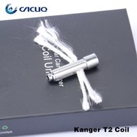 Wholesale Coil T2 Long Wick - 100% Original Kanger t2 Atomizer Replacement Coil Head for Kangertech t2 Genuine Kanger T2 Coil with Long Wick