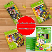 Wholesale Wholesale Wood Art - PrettyBaby wooden colored pencils coloring pencils for coloring books color drawing pencils sketch paintings 12 colors free shipping