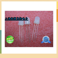 Wholesale Led Dip Red - 8mm light-eSuperiorityting tube diode red and yellow color common anode LED white hair red   yellow mist highlighted order<$18no track