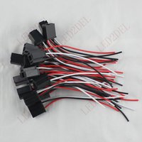 Wholesale car led housing online - Car Socket Xenon LED Light Bulb Truck Headlight Connector Female Pigtail Plug Adapter Wire Wiring Harness Plug Housing H4 HB2