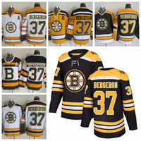 Mens Boston Bruins Hockey Jerseys 37 Patrice Bergeron 2016 Winter Classic  Black 75 Anniversary Patrice Bergero Throwback CCM Jersey A Patch ... 89c3d5f50