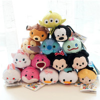 nueva Peluches TSUM TSUMS Mickey Minnie Winnie Kawaii Muñecas Anime Mobile Screen Cleaner Llavero suspensión del bolso para el teléfono móvil Ipad